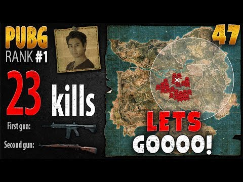 PUBG Rank 1 -  Anthony 23 kill SOLO - PLAYERUNKNOWN'S BATTLEGROUNDS #47