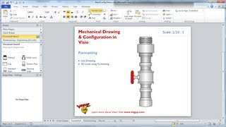 Visio videos visio clips clipzui mechanical drawing configuration in visio ccuart Choice Image