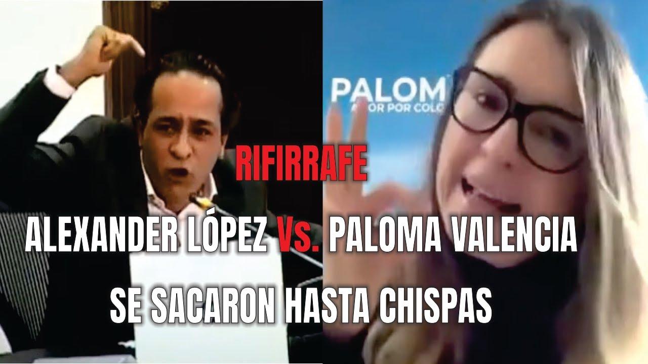 Download Otro Rifirrafe entre Alexander López y Paloma Valencia - Se sacaron hasta chispas.