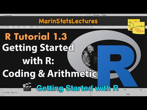 Getting Started With R (R Tutorial 1.3)