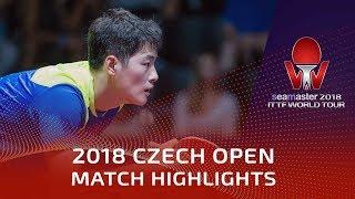 Zheng Peifeng vs Liam Pitchford | 2018 Czech Open Highlights (1/2)