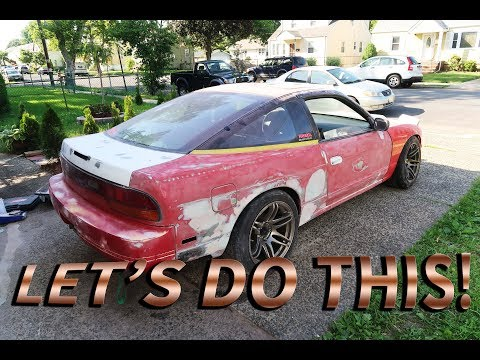 Prepping To Paint My 1JZ Type X 240sx In my Garage : Body Work