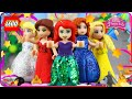 ♥ LEGO Disney Princess DRESS UP CHALLENGE New Legos Dresses for All Princesses