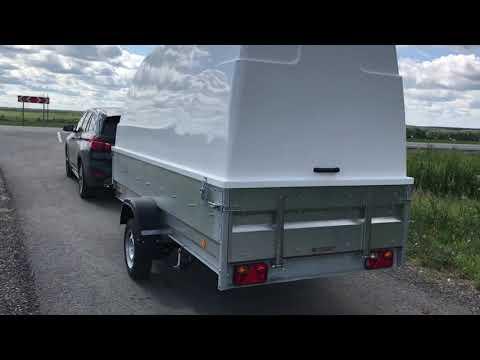 Прицеп Трейлер 829450 с высоким бортом и крышкой