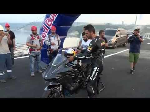 Kenan Sofuoglu Osmangazi Bridge 400 km / h speed reached HD..