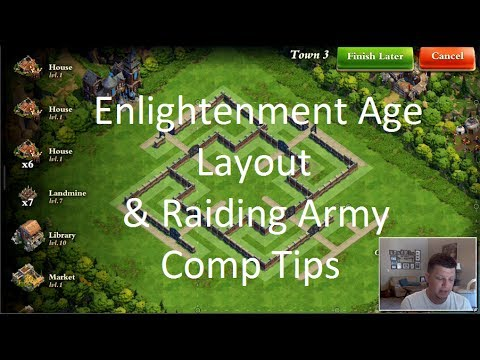 DomiNations - Enlightenment Layout - Raiding Army Tips