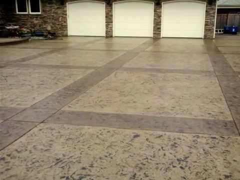 Stamped Concrete Drive Way