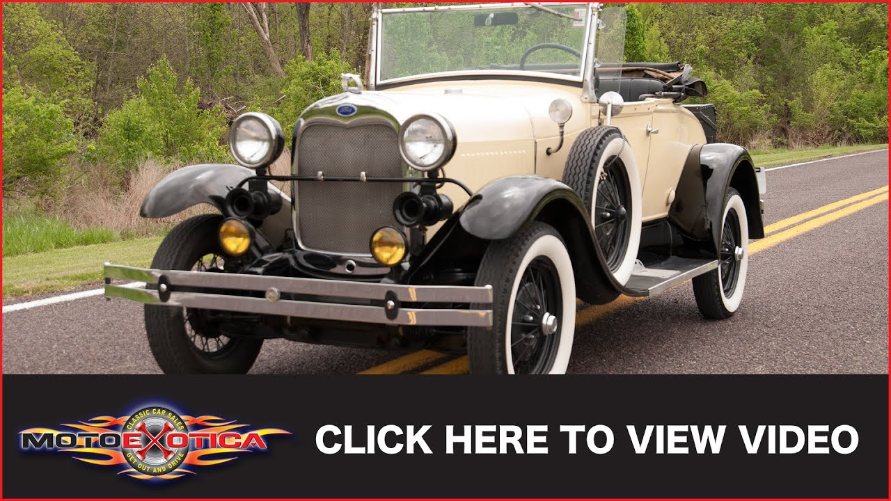 1980 Shay Ford Model A Replica (8,000 original miles) (SOLD) - YouTube