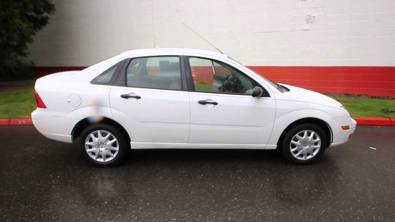 2007 ford focus se white 7w258462 seattle bellevue youtube. Black Bedroom Furniture Sets. Home Design Ideas