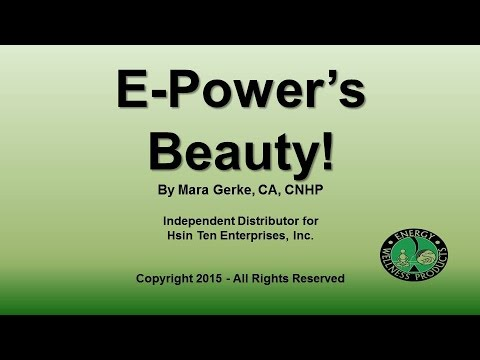 E Power Machine for Beauty - Skin Rejuvenation!
