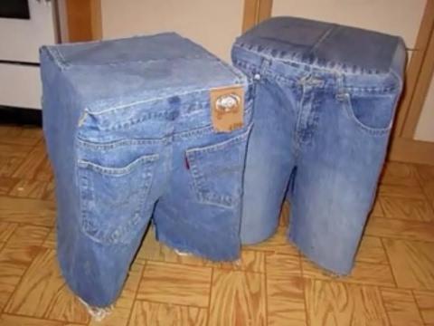 Делаем полезные вещи из старых джинсов своими руками (44 фото) 99