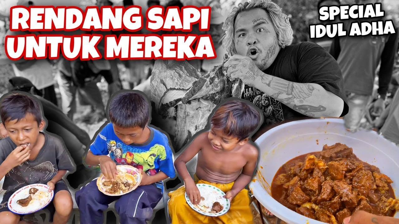 MASAK RENDANG SAPI LIMOUSIN UNTUK WARGA DESA..!!!!