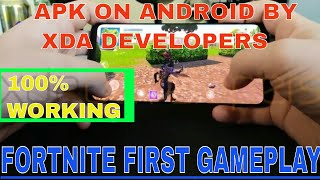 FORTNITE APK ON ANDROID FIRST GAMEPLAY [OFFICIAL!] . Comment l'obtenir??