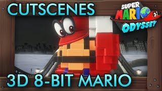 Super Mario Odyssey All Cutscenes With 3D 8 Bit Mario
