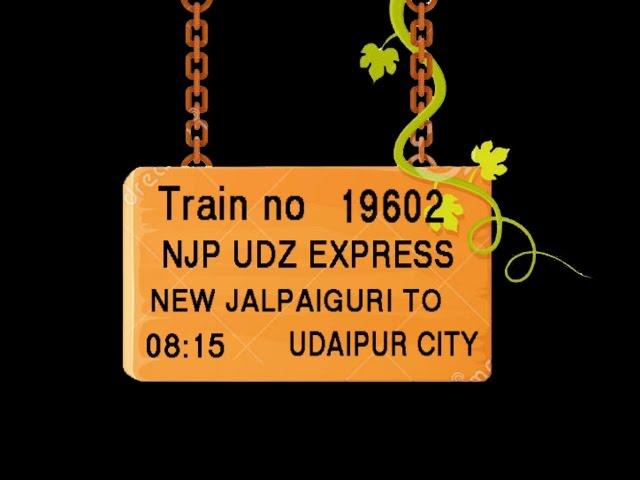 Train No 19602 Train Name NJPUDZ EXPRESS NEW JALPAIGURI KISHANGANJ KATIHAR KHAGARIA SAMASTIPUR