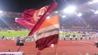 """Roma-Napoli 2 0 """"Grazie Roma"""" Tifo dalla Curva Sud"""