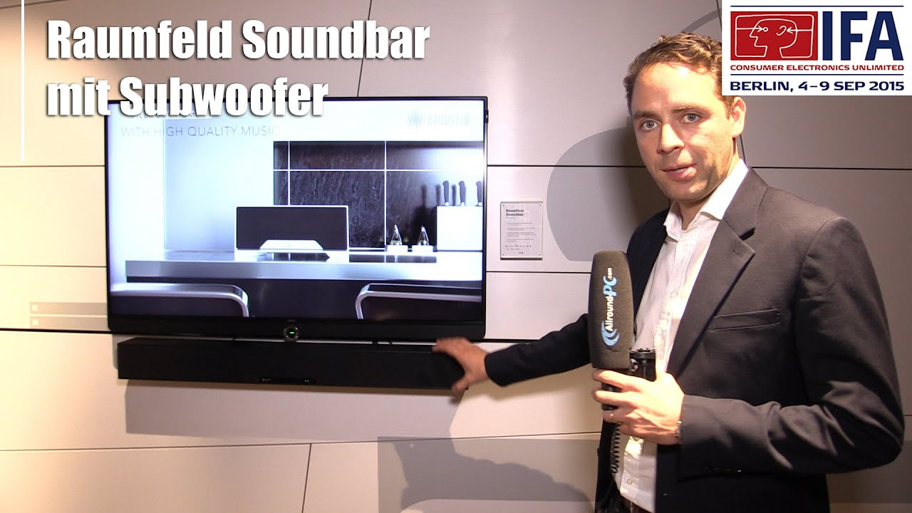 ifa 2015 raumfeld soundbar mit subwoofer f r den. Black Bedroom Furniture Sets. Home Design Ideas