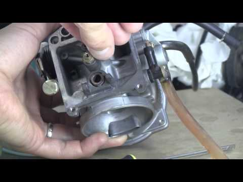 Remove and clean carb / Enlever et nettoyer carburateur KLR 650