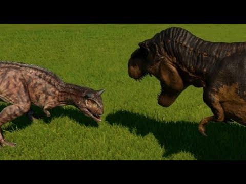 Carnotaurus vs T-Rex, Allosaurus, Baryonyx, Suchomimus & Ceratosaurus (1080p 60FPS)