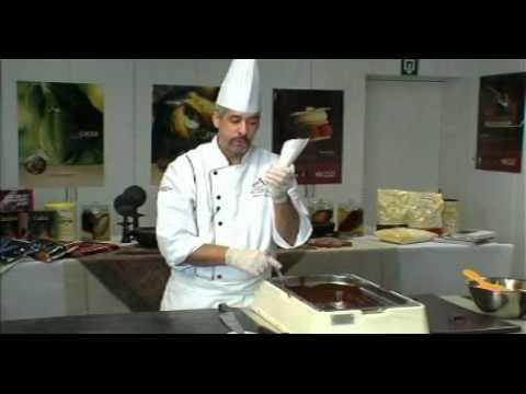 Martins Chocolatier making chocolate decorations