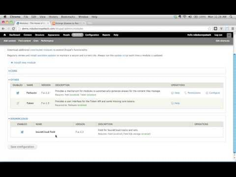 How do I configure and use the SoundCloud field module on my Drupal site?