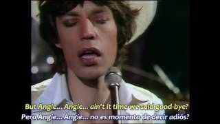 ROLLING STONES   ANGIE  Subtítulos Español & Inglés