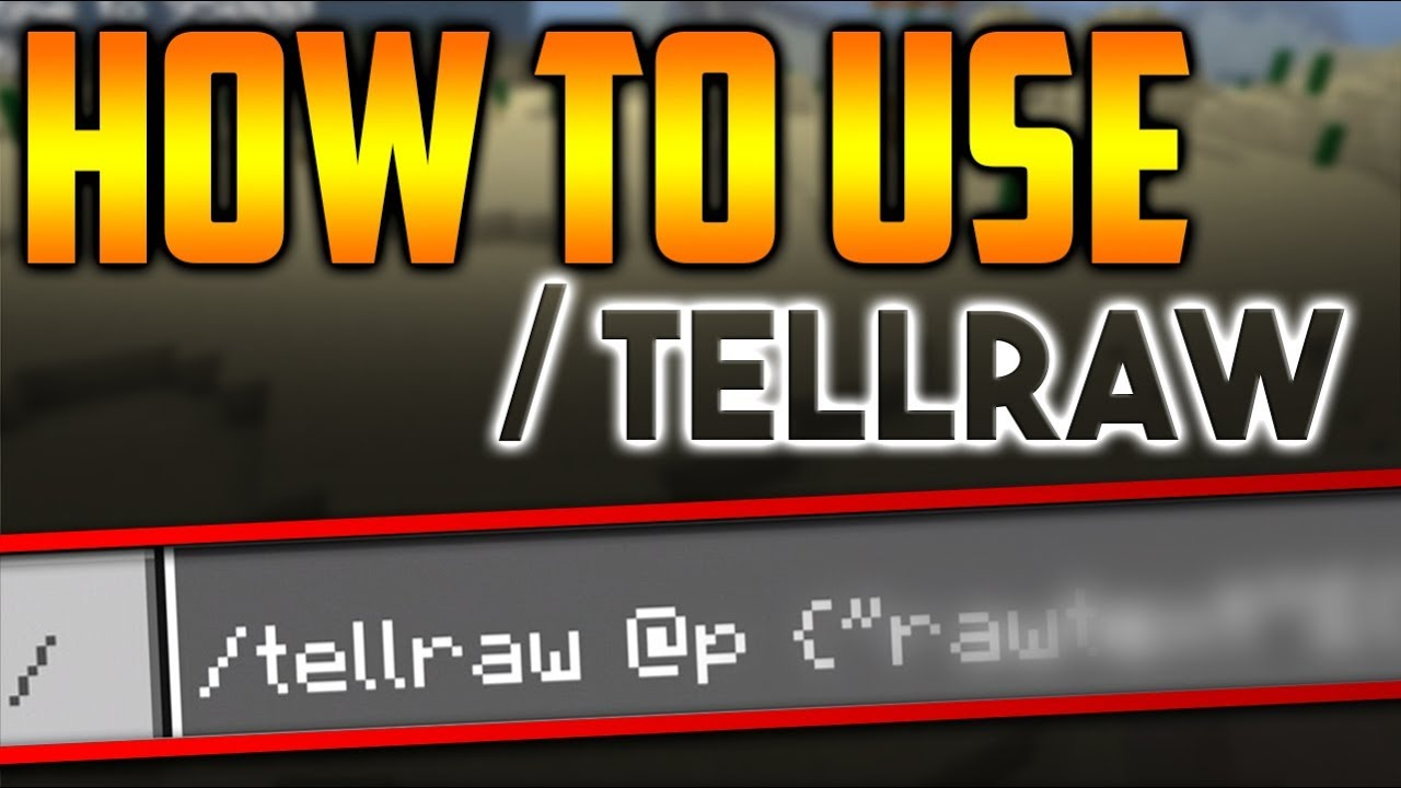 How to use /tellraw command in Minecraft PE 1 9 0 0
