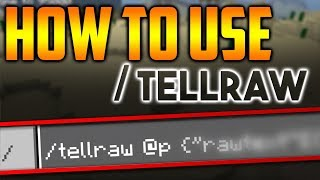 How to use /tellraw command in Minecraft PE 1.9.0.0