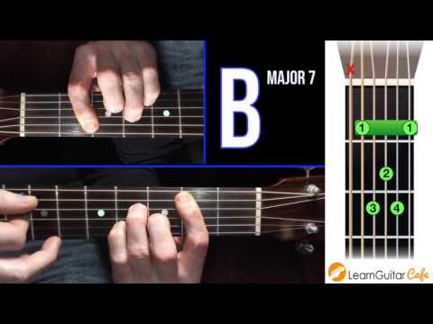 How To Play B Major 7 On Guitar Open Chord Library Youtube