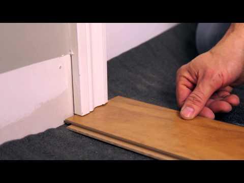 comment poser un parquet flottant ou un stratifi de la doovi. Black Bedroom Furniture Sets. Home Design Ideas
