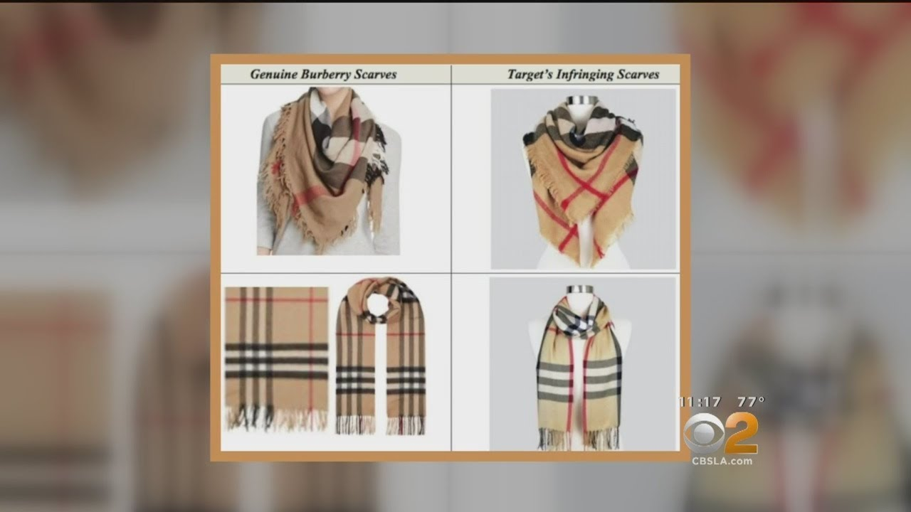 Burberry sues Target for trademark infringement over use of its check pattern