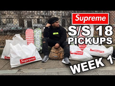 EVERYTHING WE PICKED UP AT SUPREME SS18 WEEK ONE!! INSANE PICKUPS