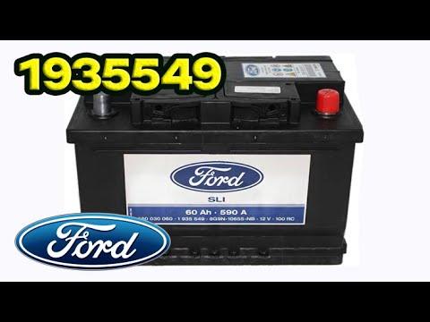 1935549 Аккумулятор Silver Calcium 12V 60Ah 590A Ford