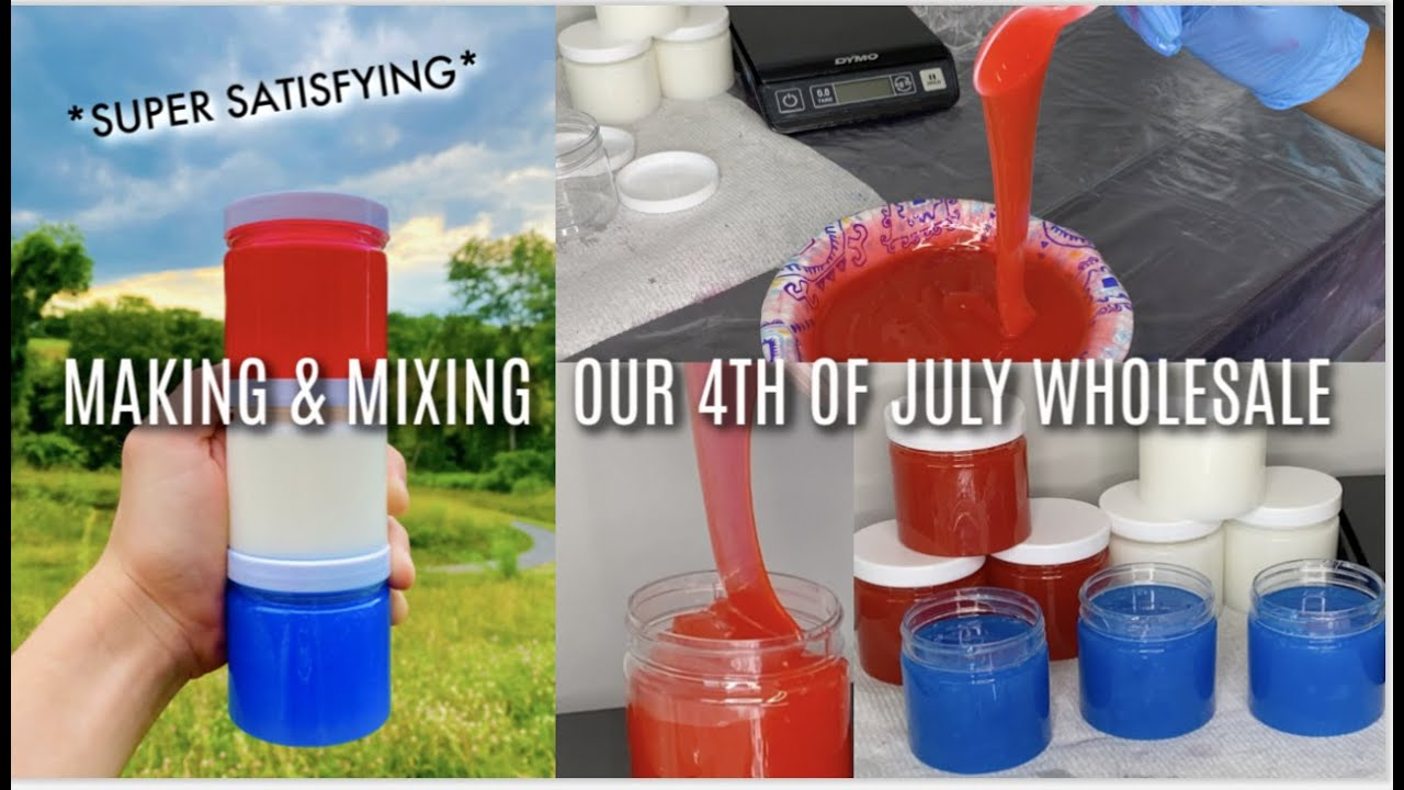 MIXING OUR 4th of JULY GLOSS *SUPER SATISFYING*