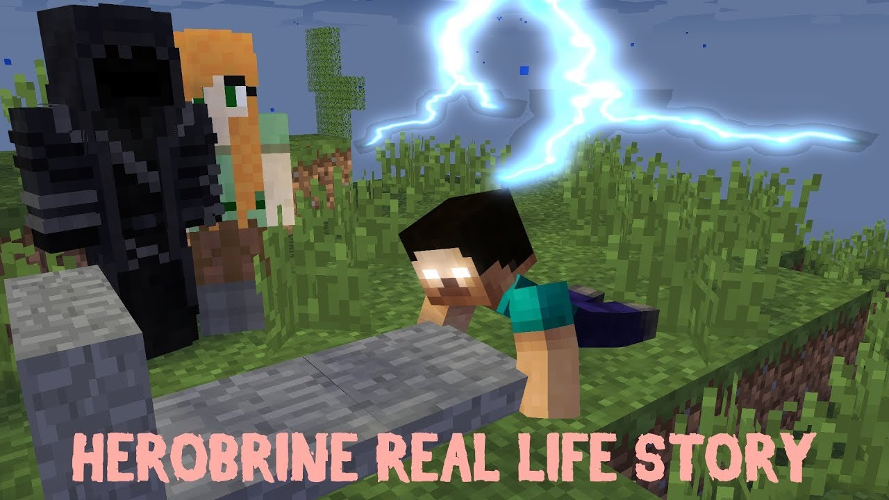MONSTER SCHOOL - HEROBRINE REAL LIFE STORY - Minecraft Animation