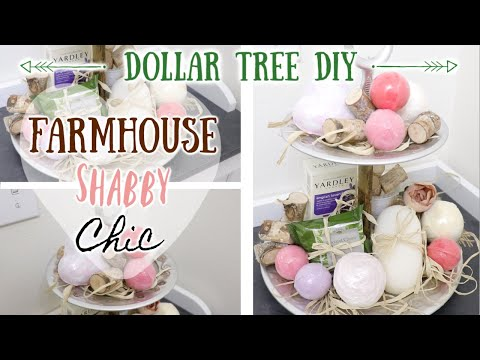 DIY DOLLAR TREE FARMHOUSE PLUNGER TIERED TRAY! UNIQUE AND EASY! 5 APRIL 19