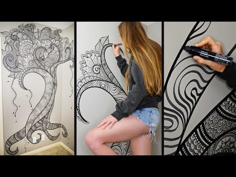 Henna Tree Wall Art | Mehndi Design