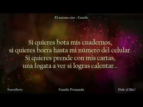 El mismo aire - Camilo con letra - canción original