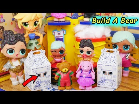 LOL Surprise Dolls Lil Sisters Shop Build A Bear Story Color Change Swim Pool Blind Bag Water Slide!