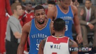 NBA 2K16 - Oklahoma City Thunder v Washington Wizards [1080p 60FPS HD]