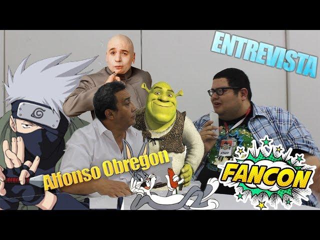 FANCON HONDURAS 2018   ENTREVISTA A ALFONSO OBREGON  VOZ DE KAKASHI SENSEI Y SHERK EN LATINO AM