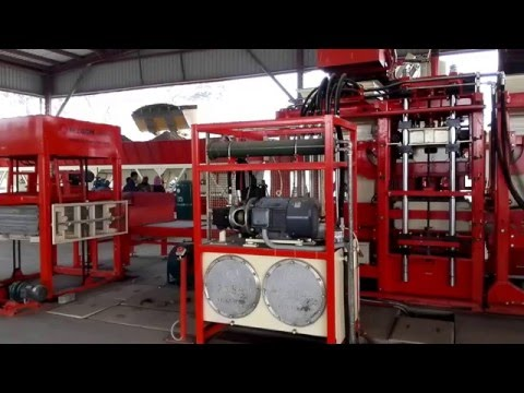 QGM T10 Automatic Concrete and cement Block Making Machine in bangladesh