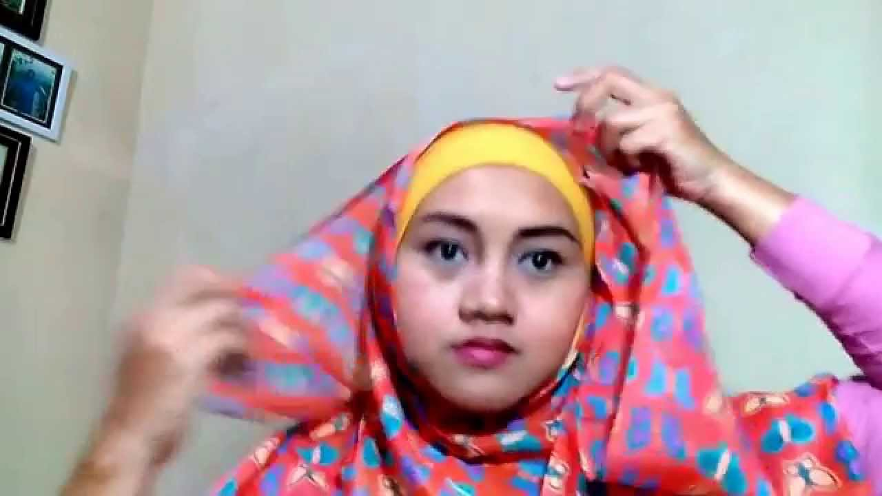 Hijab Tutorial Video Cara Memakai Jilbab Pashmina Motif Simple