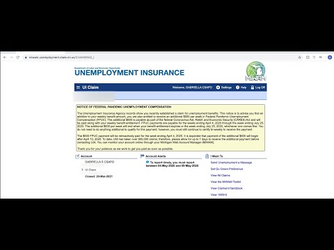 How To Navigate Michigan Unemployment Website (MIWAM): COVID-19 Update; May 2020