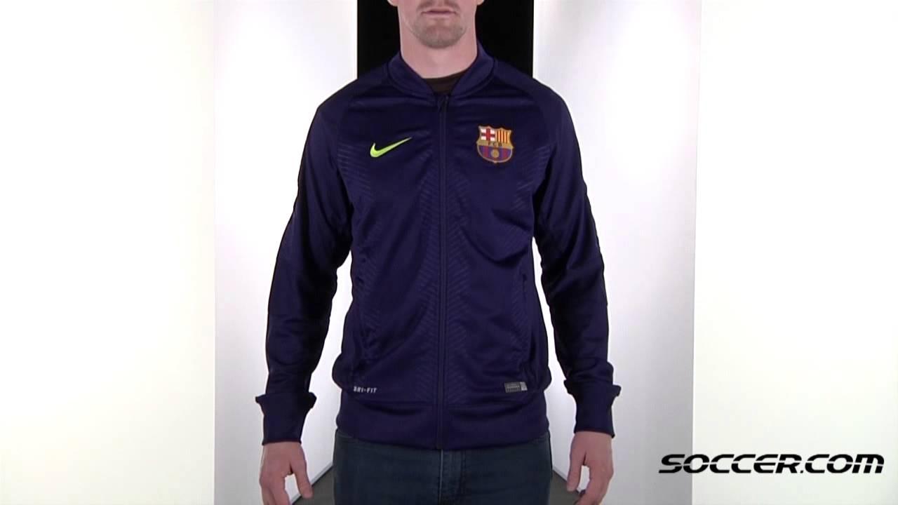 Nike Barcelona Prematch Sideline Jacket 14 15 69043 - YouTube b7d2add89
