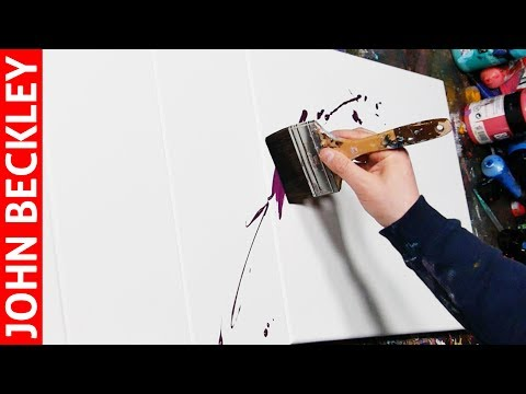 HOW TO PAINT ABSTRACT PAINTING WITH ACRYLIC | Alpha