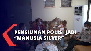 Kesulitan Ekonomi, Pensiunan Polisi Jadi Manusia Silver