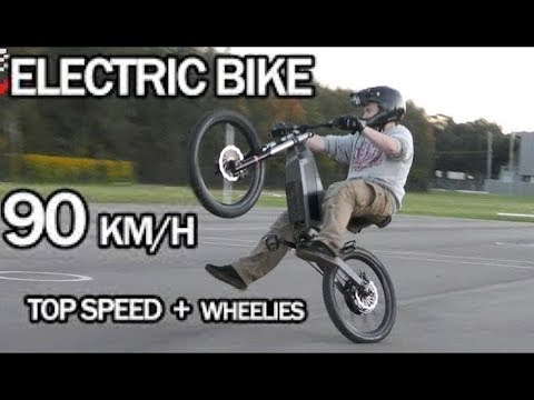 Electric Bike 90km/h Top Speed + Wheelies | Stealth Electric