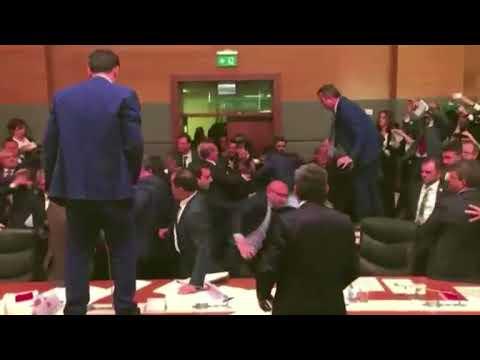 Turkish Parliament Thrash