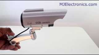 Dummy Security Camera Infared With Solar Power Charger Review